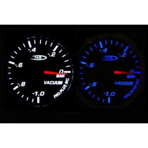 PRO RACING GAUGE 52mm  - Vákum Kék&FEHÉR